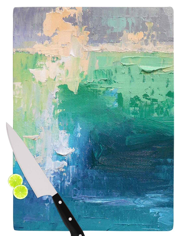 Multi KESS InHouse CS1039ACB01 Carol SchiffSea Music Teal Painting Cutting Board 11.5 x 8.25
