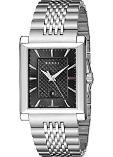 Gucci G-Timeless Rectangle Stainless Steel Mens Watch(Model:YA138401)