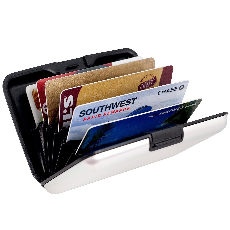 Aluminum Credit Card Wallet - RFID Blocking Case - Silver ...