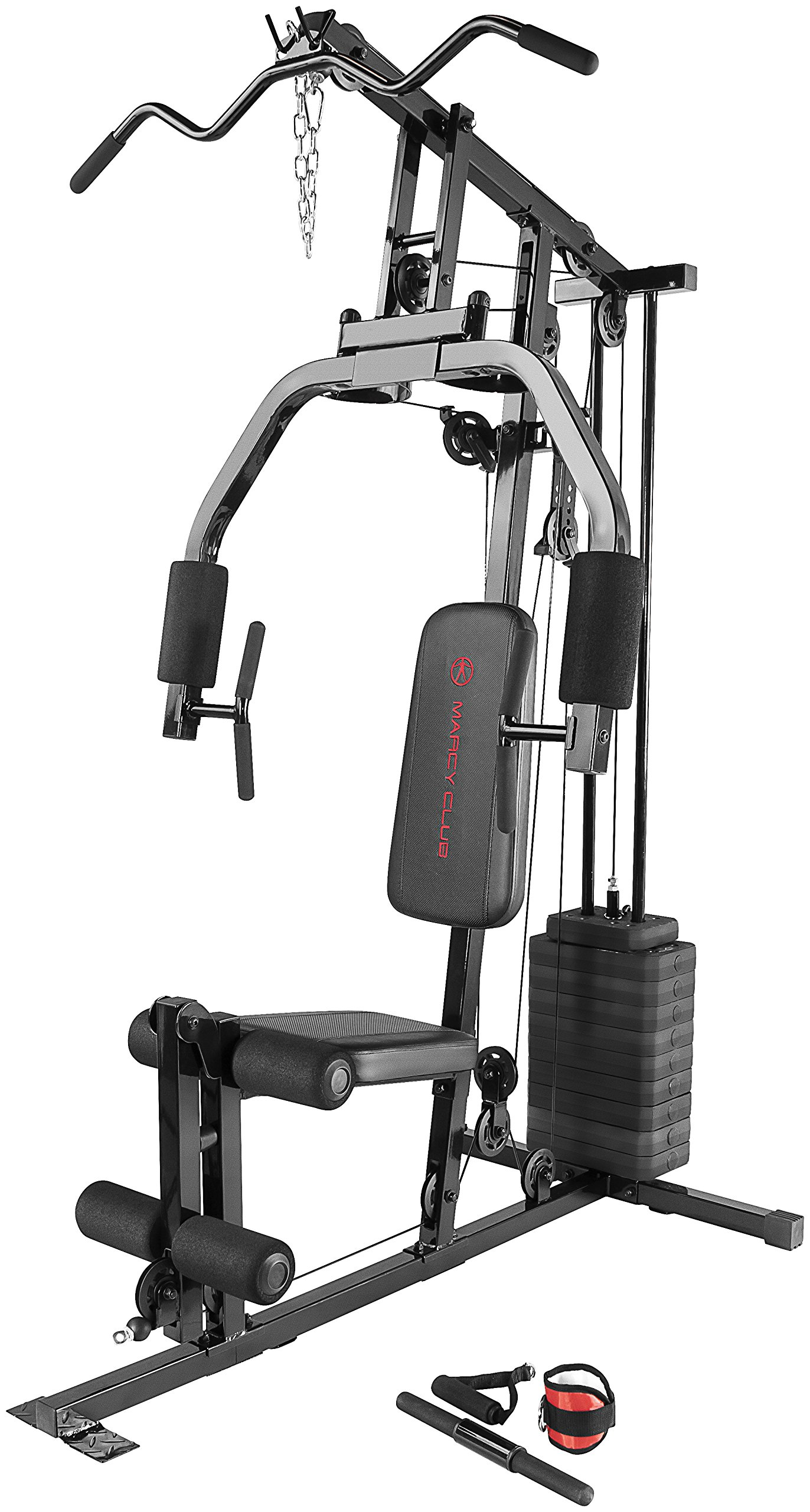 Marcy 100Lb. Stack Home Gym with Pulley, Press Arm, and Leg Developer MKM-81030 by Marcy