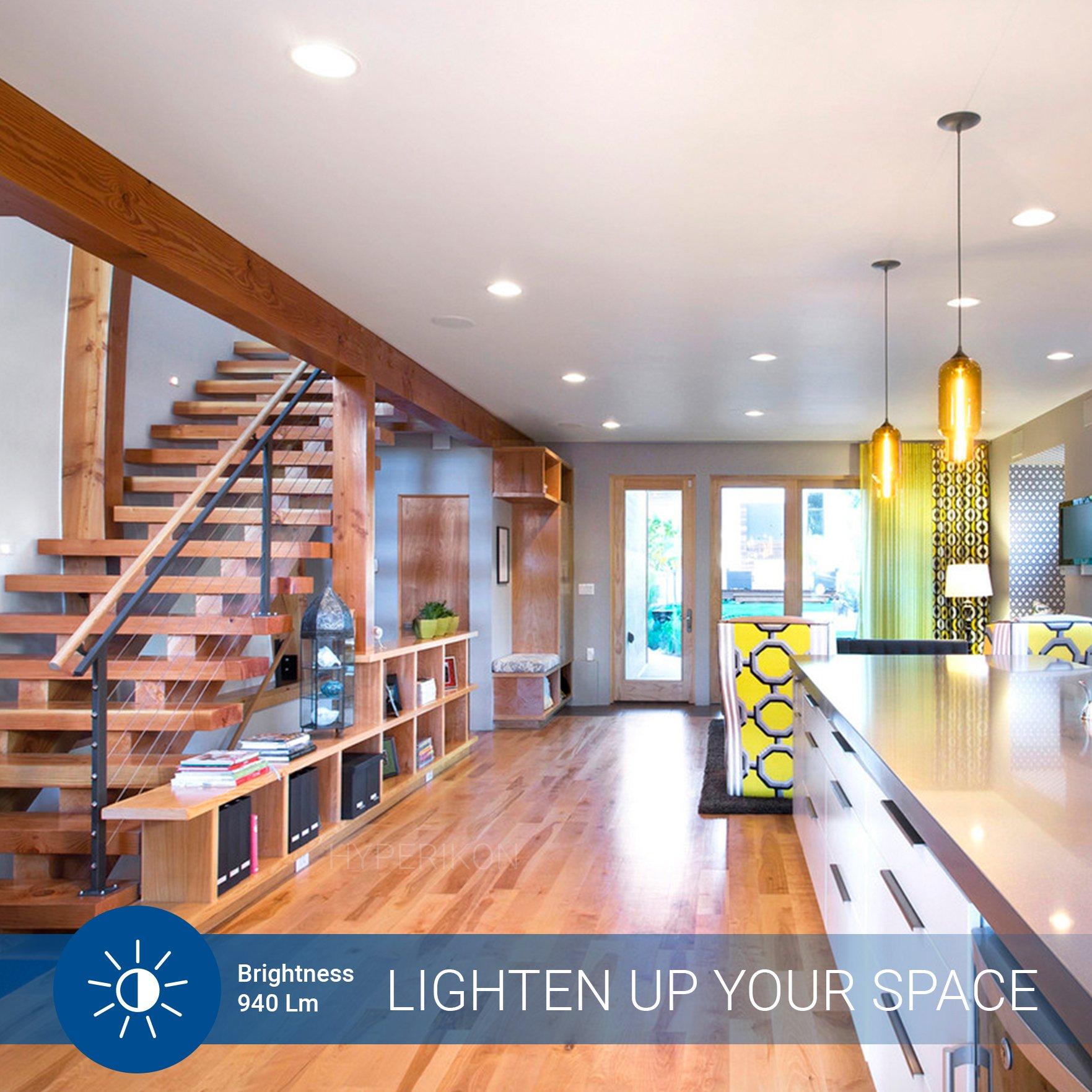 Hyperikon PAR30 Short Neck LED Bulb, Dimmable, 10W (65W Equivalent), 4000K (Daylight Glow) 840 lm, CRI 90+, Flood Bulb, Medium Base (E26), UL & Energy Star - Great for Work Areas, Kitchen (6 Pack) by Hyperikon (Image #4)