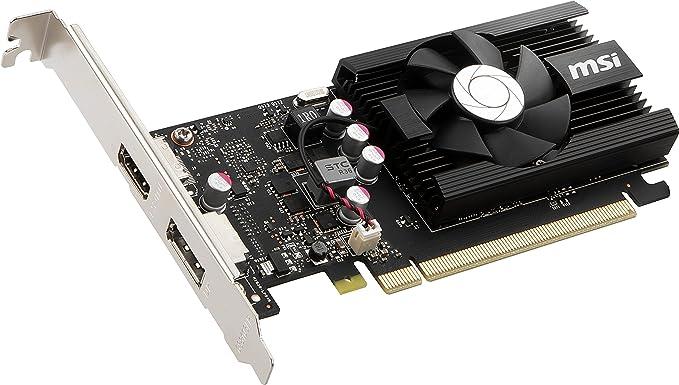 MSI GT 1030 2GD4 LP OC - Tarjeta gráfica (GeForce GT 1030, 2 ...