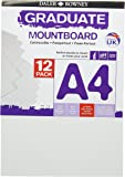 Daler Rowney Ice White A4 Graduate Mountboard (Pack of 12)