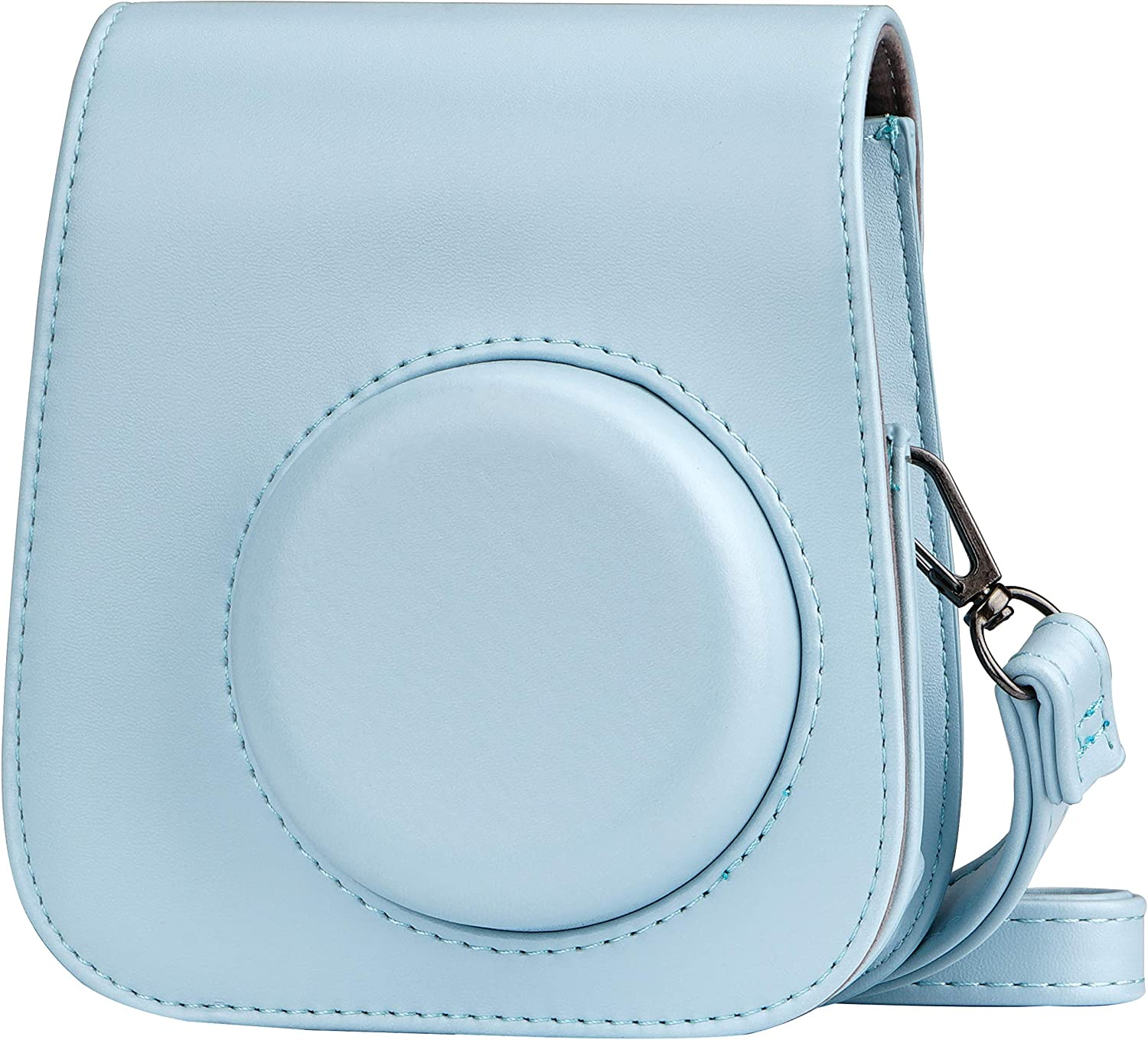 Blummy PU Leather Camera Case for Fujifilm Instax Mini 11 Instant Camera with Adjustable Strap and Pocket(Blue)