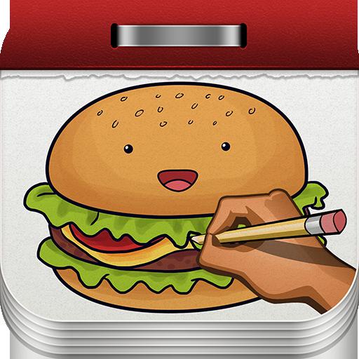 draw food - 1