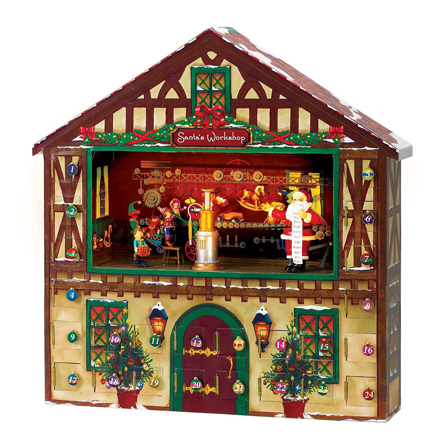 Mr. Christmas Animated Musical Advent House 23963