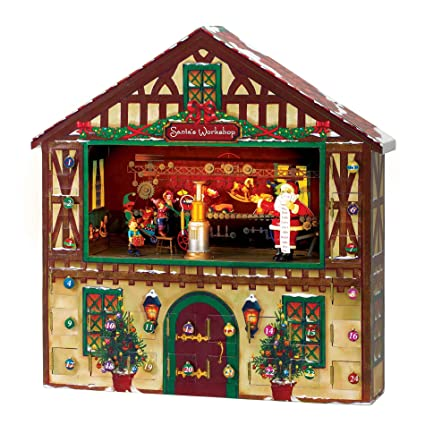 0eba142fc6c Amazon.com: Mr. Christmas Animated Musical Advent House: Home & Kitchen