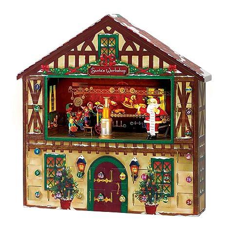 Christmas Advent House.Mr Christmas Animated Musical Advent House