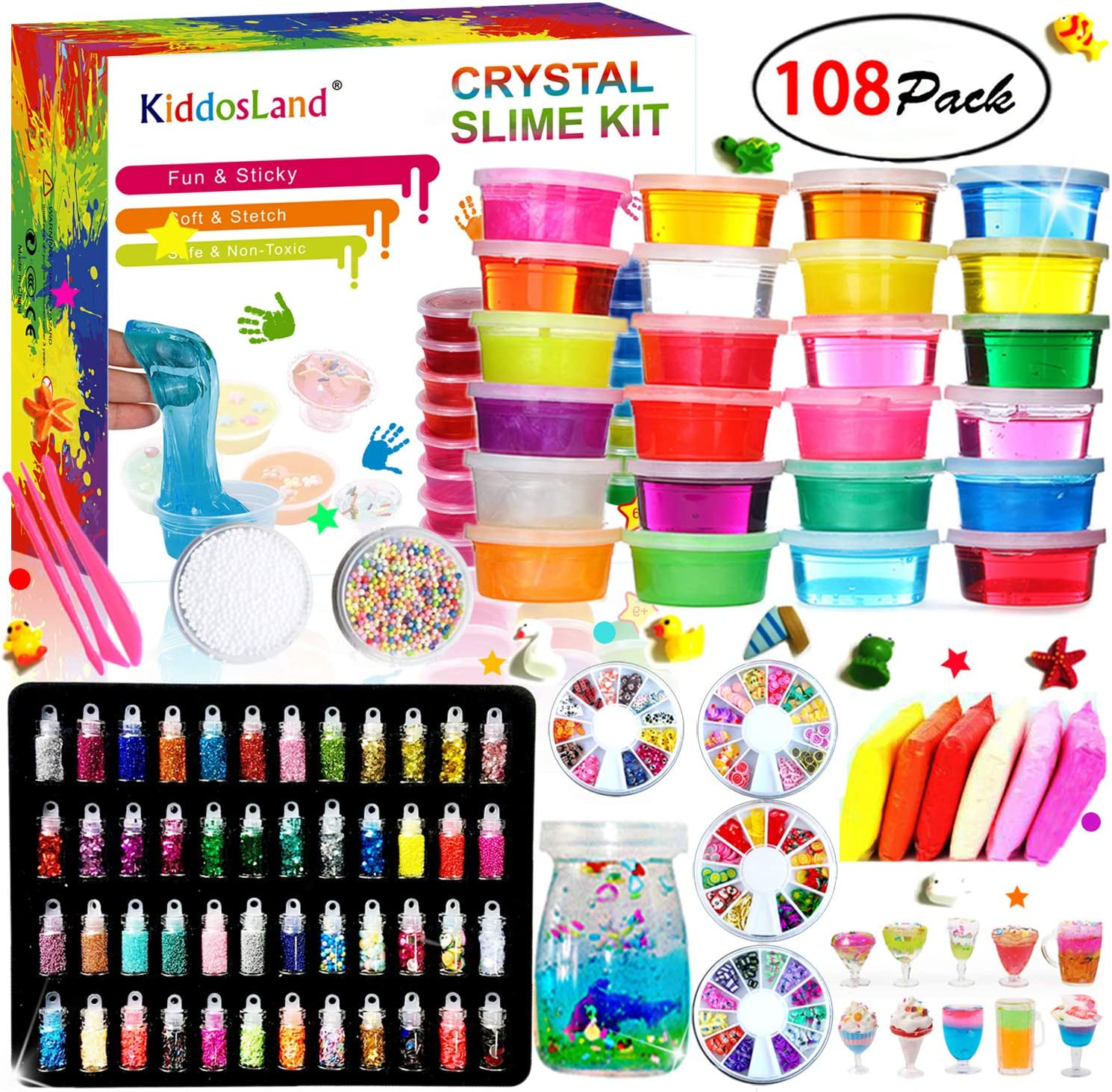 DIY Slime Kit - 24 Colores Kit de Slime Esponjoso con 48 ...