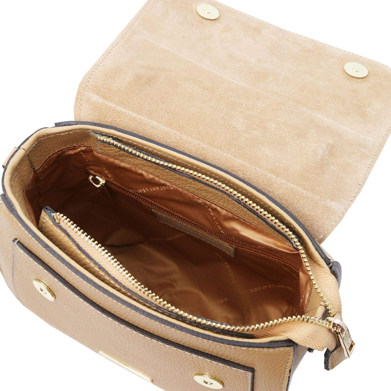 Tuscany Leather TL Bag - Borsa a mano in pelle - TL141941 (Nero) Champagne