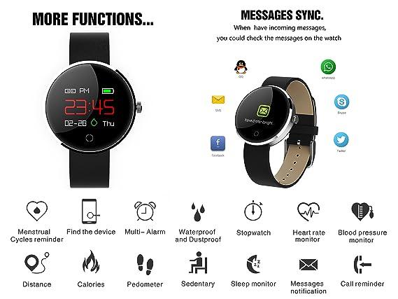 GARDEX Montre Connectée, Fitness Tracker avec Moniteur de Fréquence Cardiaque, Moniteur de Pression Artérielle, Moniteur de Sommeil, Podomètre, ...