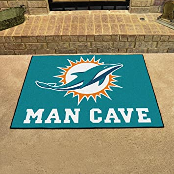 Beautiful Miami Dolphins Man Cave All Star Rug 34x45   FAN 14324 By Fanmats
