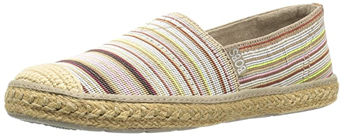 BOBS from Skechers Women's Flexpadrille-Cabana Party Flat, Natural/Multi, 8.5 M US