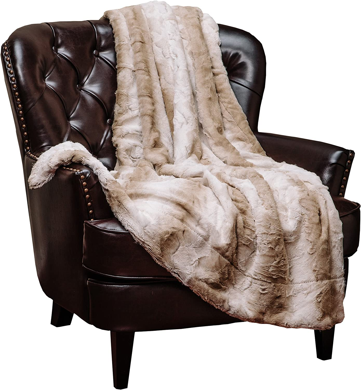 Elegant Super Soft Faux Fur Sherpa Throw Blanket