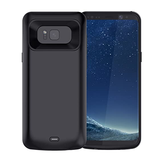 2cbadd4d2 Image Unavailable. Image not available for. Color: Galaxy S8 Plus Battery  Case, Jellas 5500 mAh Portable External Backup Power Bank Protective Phone