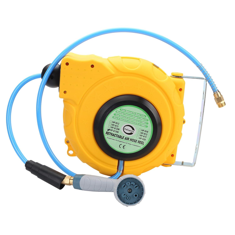 Valianto HP-815W 50ft by 3/8-Inch I.D. Elektrische Kabelrolle Wasser Kabeltrommel