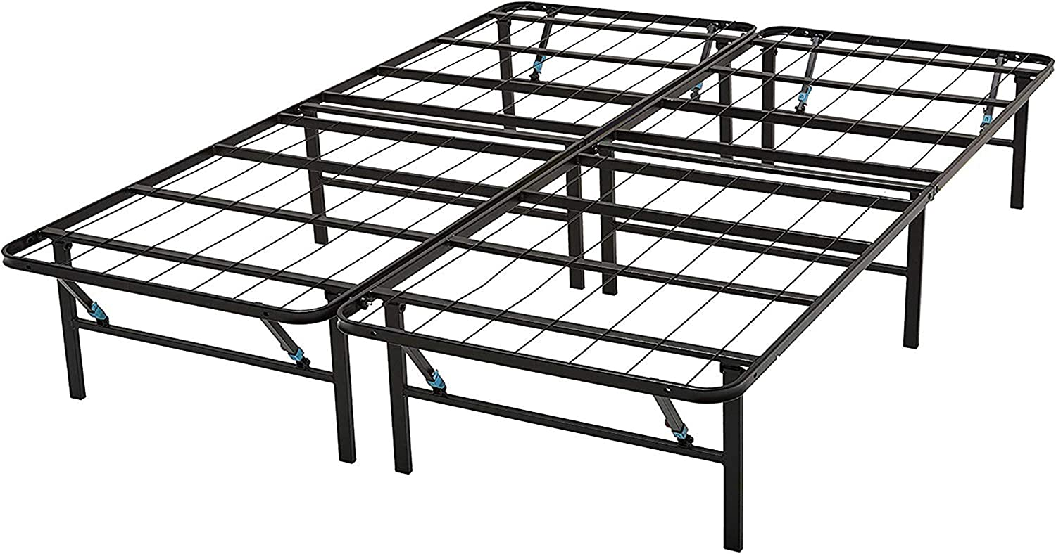 Omne Sleep 14-Inch Maximum Storage Mattress Foundation Up to 2000lb Capacity Bed Frame 5 Second Tool-Free Assembly Noise Free Platform Bed Base Box Spring Replacement Twin