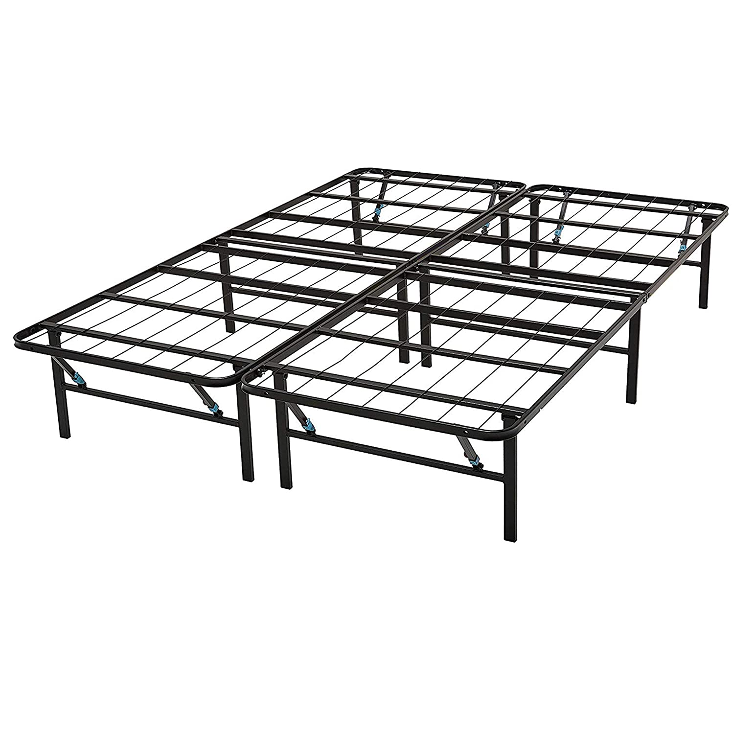 Omne Sleep 14-Inch Maximum Storage Mattress Foundation Up to 2000lb Capacity Bed Frame 5 Second Tool-Free Assembly Noise Free Platform Bed Base Box Spring Replacement Queen