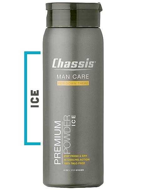 CHASSIS polvos para el cuerpo de hielo para los hombres - con la sensación de enfriamiento