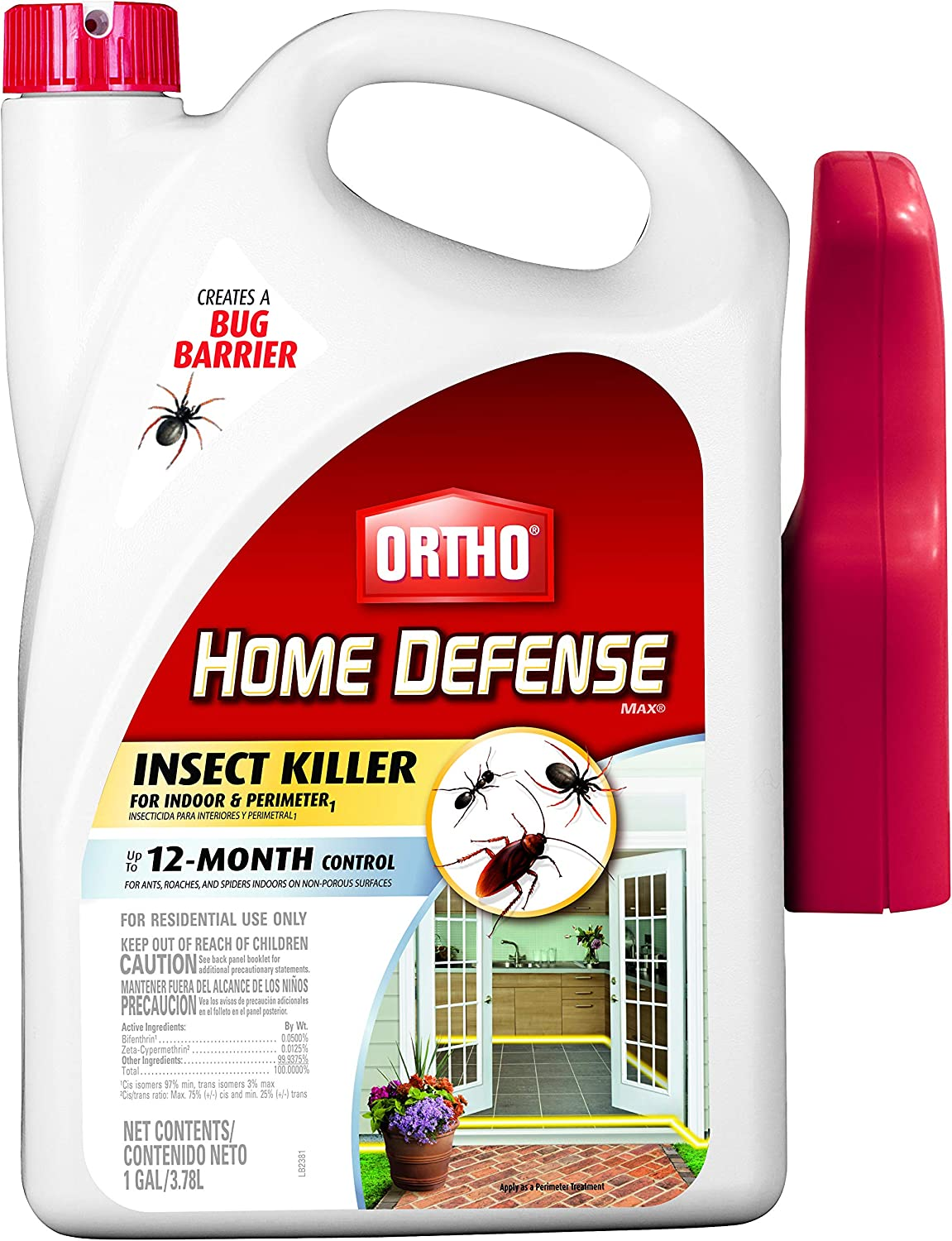 Ortho 0196710 Home Defense MAX Insect Killer Spray for Indoor and Home Perimeter, 1-Gallon (Ant, Roach, Spider, Stinkbug, Centipede Killer)