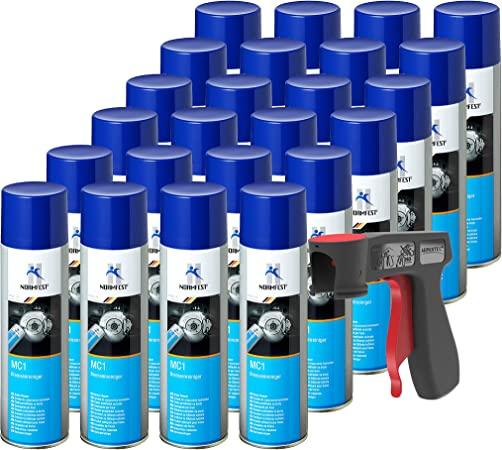 Auprotec Bremsenreiniger Mc 1 Multicleaner Spray Intensiv Reiniger Transparent 24x 500ml 1x Original Pistolengriff Auto