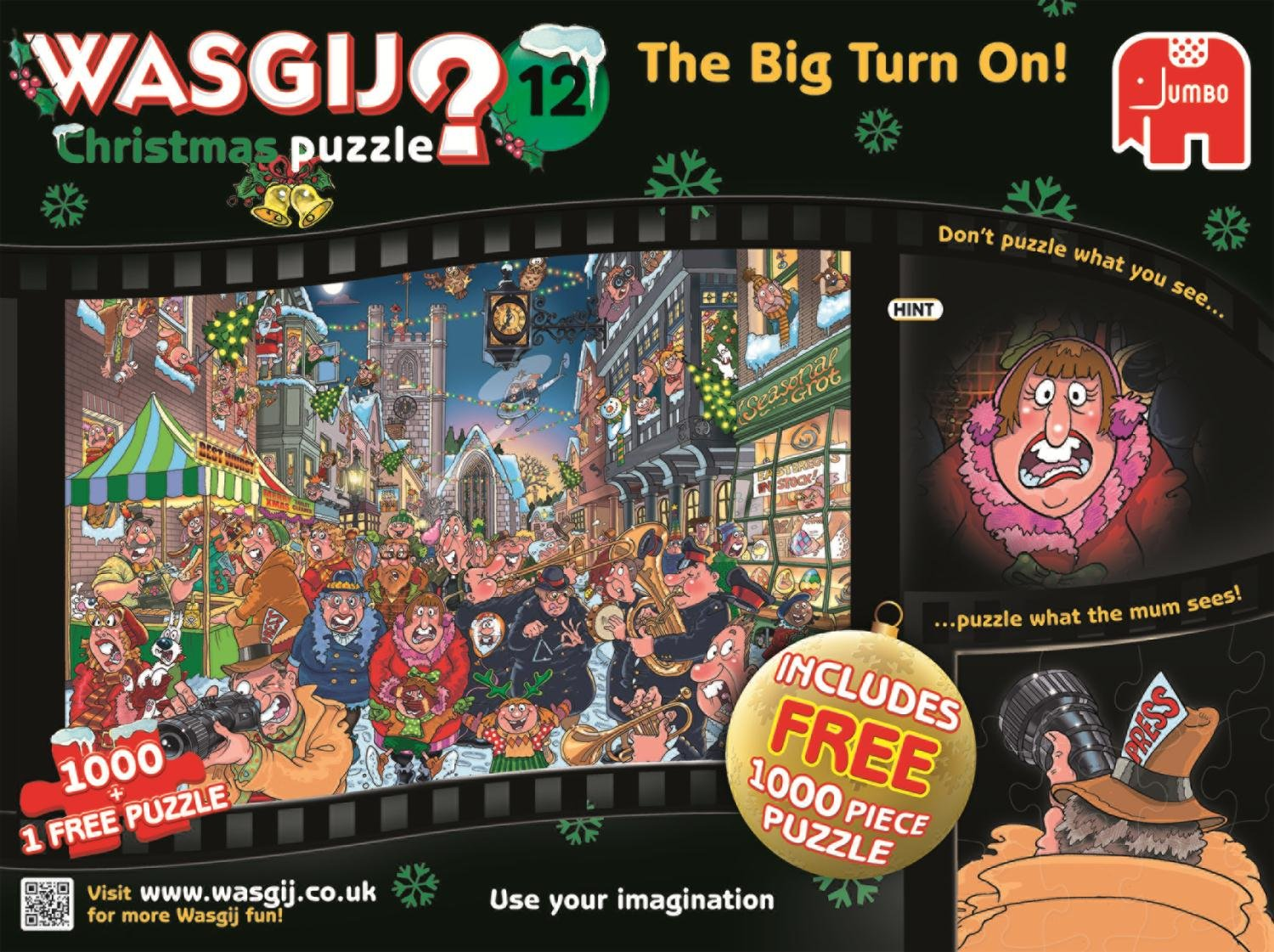 wasgij christmas 12 the big turn on jigsaw puzzle 1000 piece
