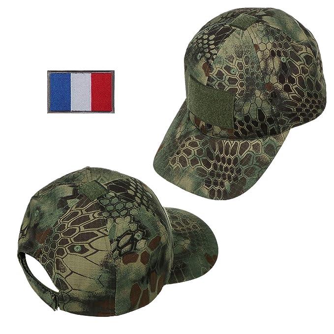 Xidan CFL Gorra Sombrero para Sol de Malla Táctica de Deporte Béisbol  Camuflaje Militar para Hombres con Francia Parche de Bandera Parche de  Palabras  ... 3151bf2cac8