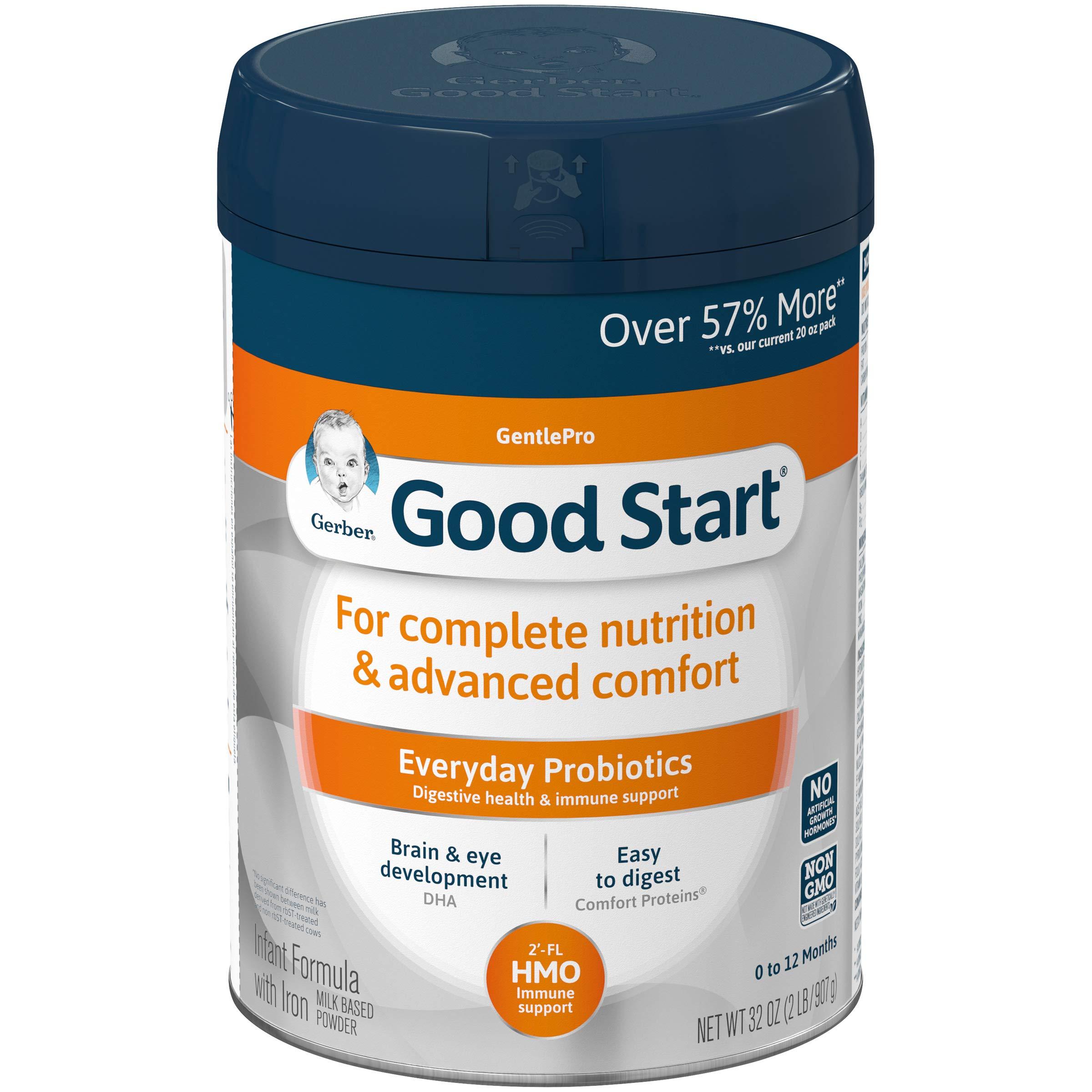 Gerber Good Start Gentle (HMO) Non-GMO Powder Infant Formula, Stage 1, 32 oz