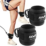 Ankle Straps for Cable Machines Padded Ankle Cuffs (Pair) - for Legs, Glutes, Abs and Hip Workouts Fits Women & Men…