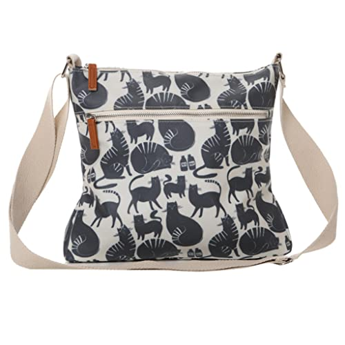Mujer Purple Cream Grey Bolso Blue Para Uk Gris Possum Cruzados HqrqRO17X