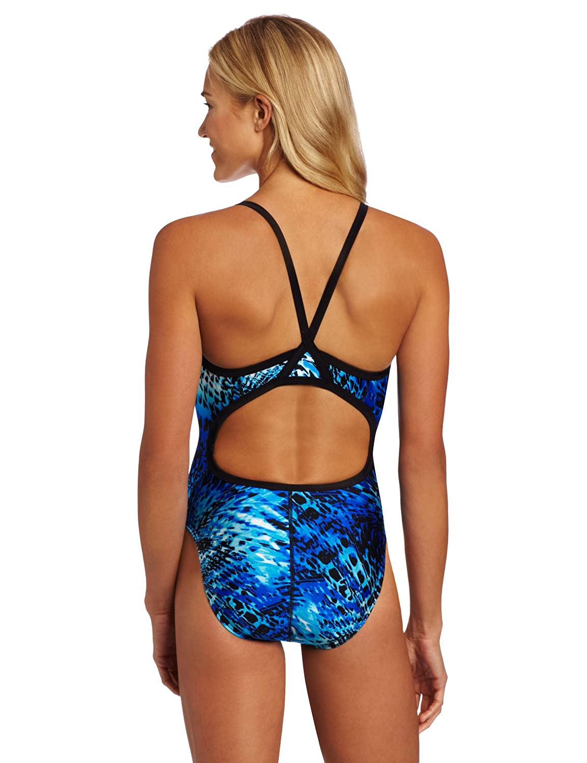 Amazon.com : Speedo Womens Primal Splice Flyback Life Lycra Swimsuit : Athletic One Piece Swimsuits : Sports & Outdoors
