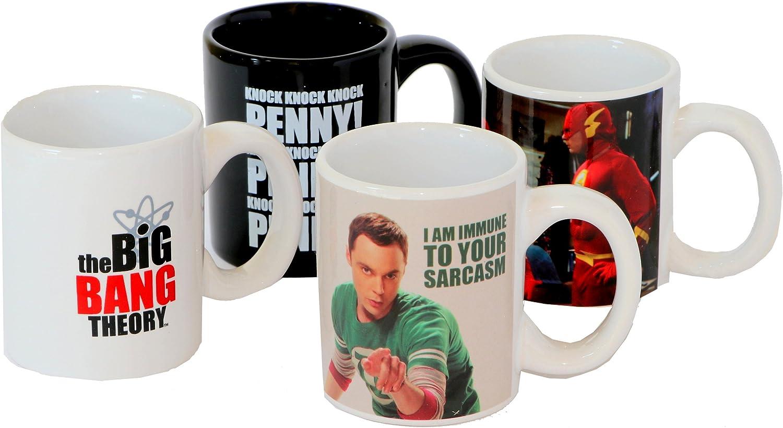 Taza Set 4 Mini Tazas Big Bang Theory: Amazon.es: Juguetes y juegos