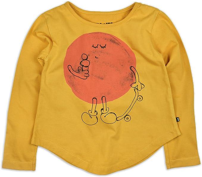 AKI & AIKO Algodón Organica Camiseta Manga Larga de Niña Mr. Sun ...