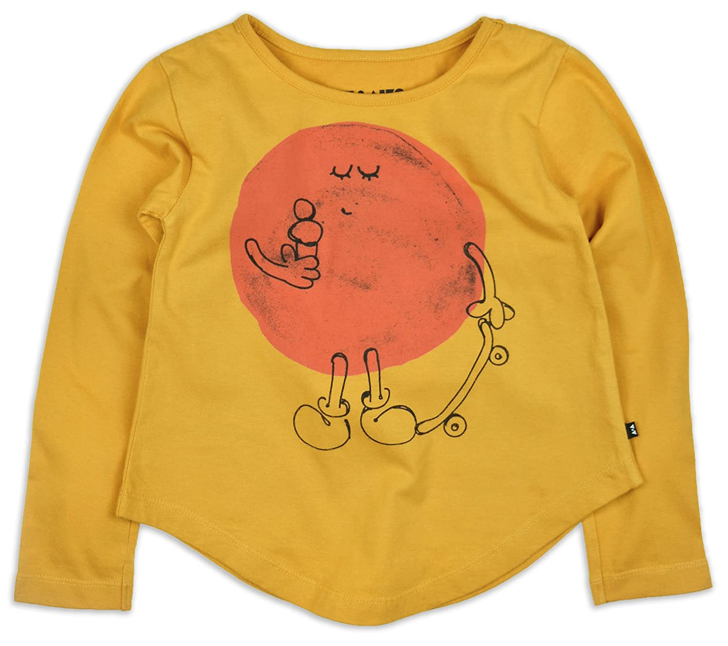 AKI & AIKO Organic Cotton Mr. Sun Girls Full Sleeve T-Shirt (2-7T)