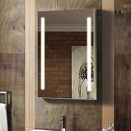 ENKI 500 x 700 mm LED allument miroir en verre mur chambre salle de bain  maison COCO