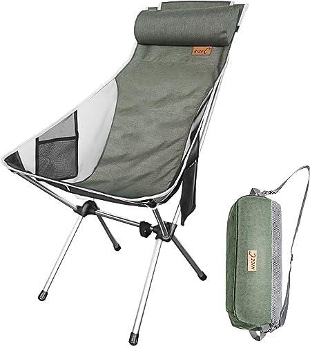 Nice C Ultralight High Back Folding Camping Chair