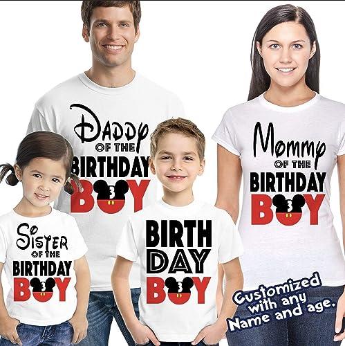Amazon Matching Disney Family Birthday Boy Tshirts