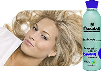 Amazon.com : Repolarizador Maxybelt | Tratamiento - Mascarilla Capilar Repolarizante | Effective Treatment for Damaged Hair 13.5 Ounces - 400 Mililiter : ...