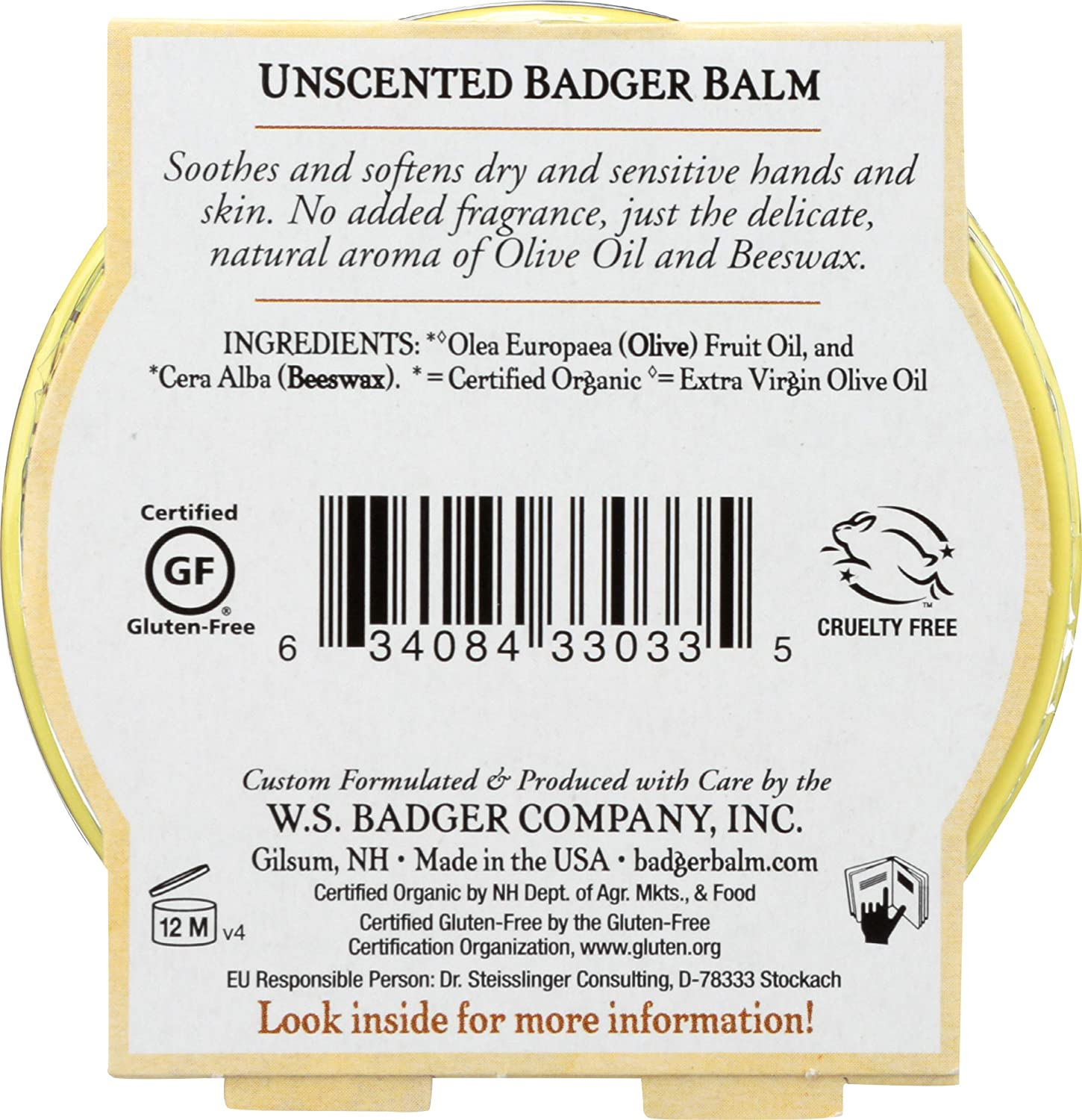 Unscented Beauty Balm by badger #9