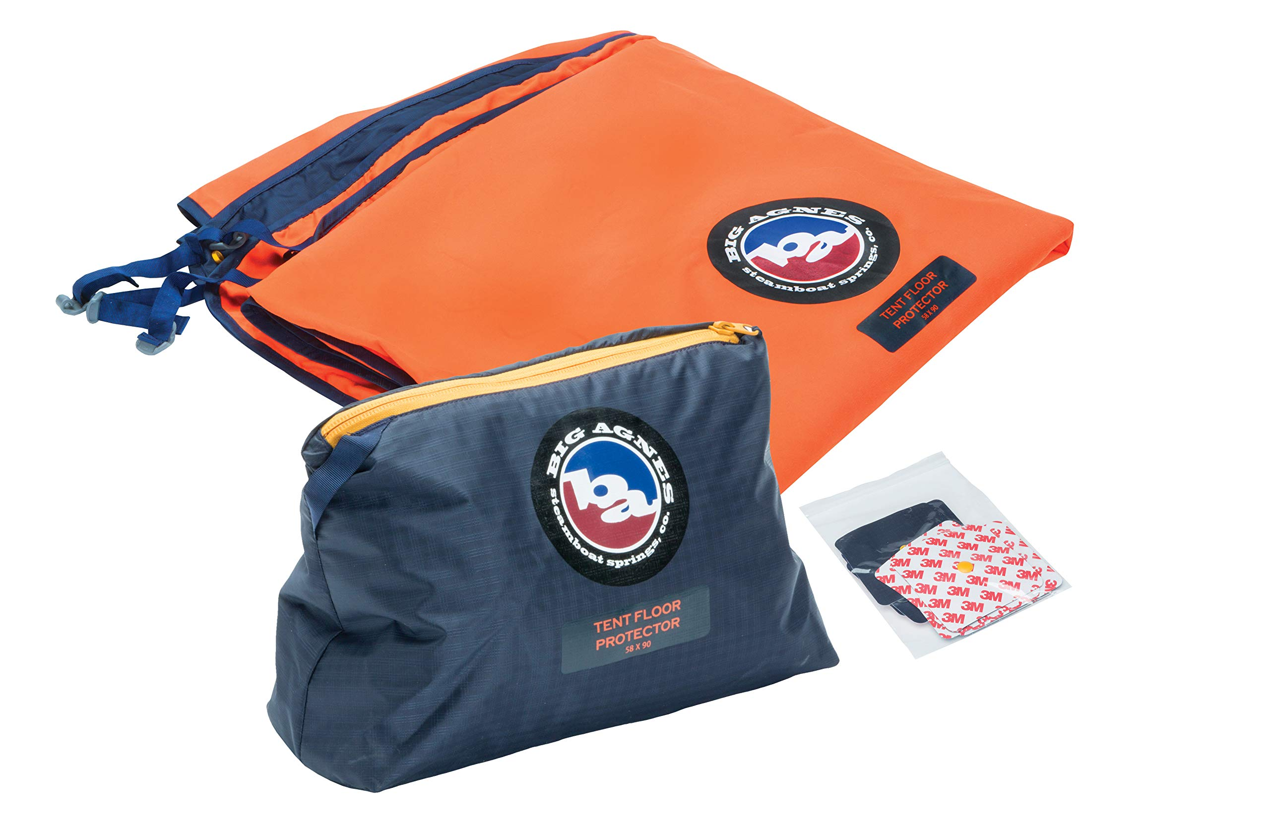 Big Agnes Tent Floor Protector, 58X90, Orange/Navy by Big Agnes
