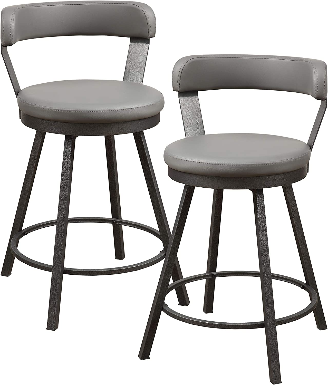 Homelegance Appert Swivel Counter Height Chair (Set of 2), 25