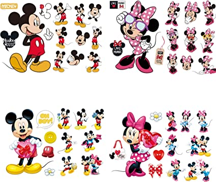 Kibi Stickers Muraux Mickey Stickers Muraux Minnie et Mickey Stickers Muraux Enfants Mickey Stickers Muraux Chambre B/éb/é Autocollants Mickey Mouse Autocollants Enfants Mickey