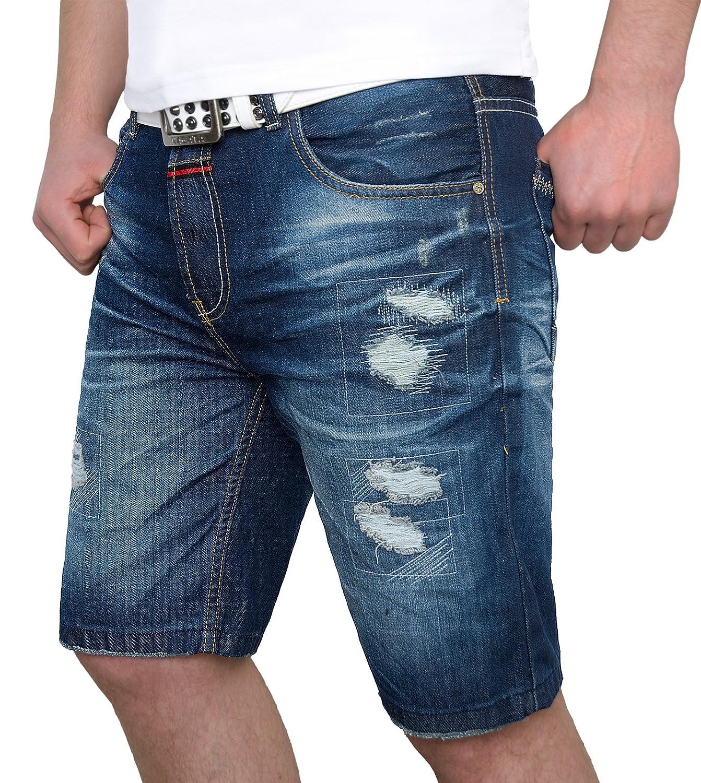307819769d63 Herren Jeans Shorts kurze Hose Bermuda Sweathose Denim Short Sommer  H-072-W28-W38  Amazon.de  Bekleidung