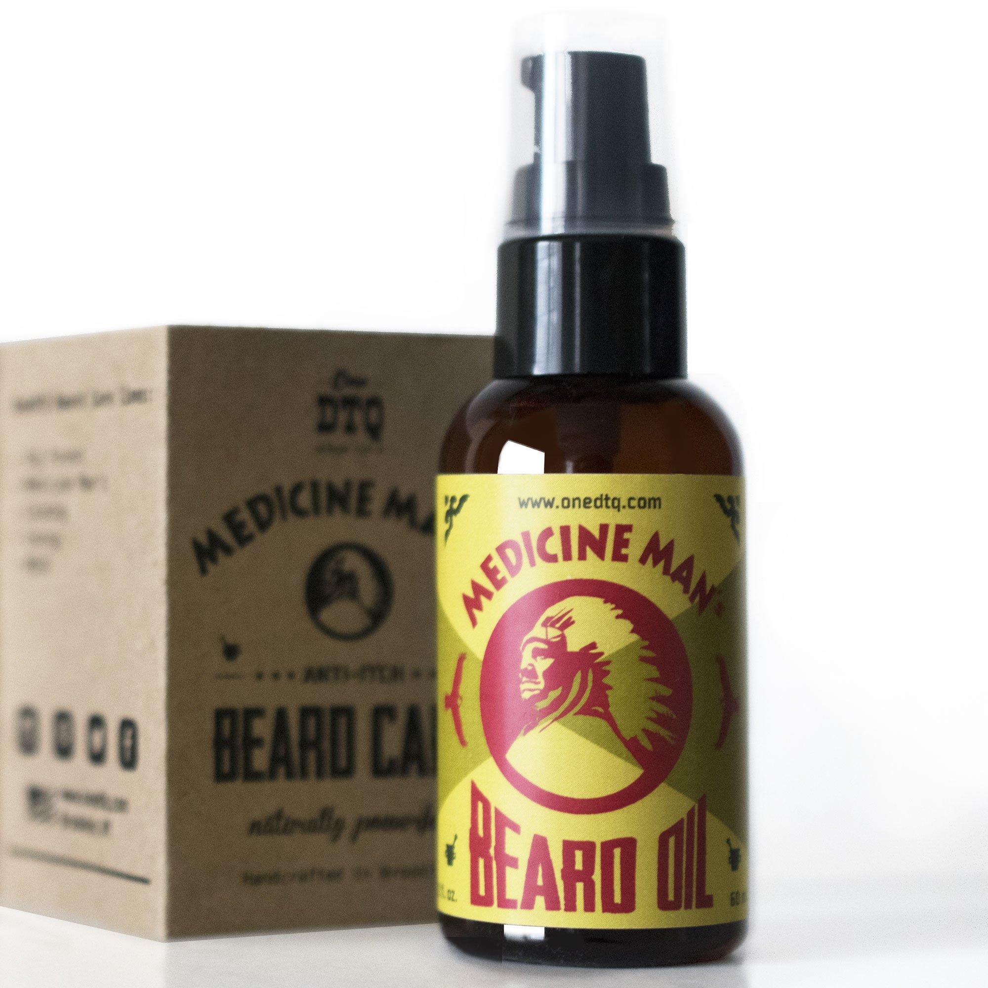 Medicine Man's Anti-itch Beard Oil 2 FL OZ - 100% Natural & Organic Leave-In Conditioner
