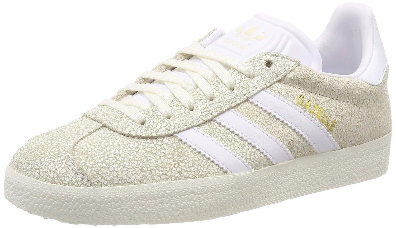 Adidas Gazelle W, Zapatillas de Gimnasia para Mujer 41 1/3 EU|Blanco (Off White/Footwear White/Off White 0)