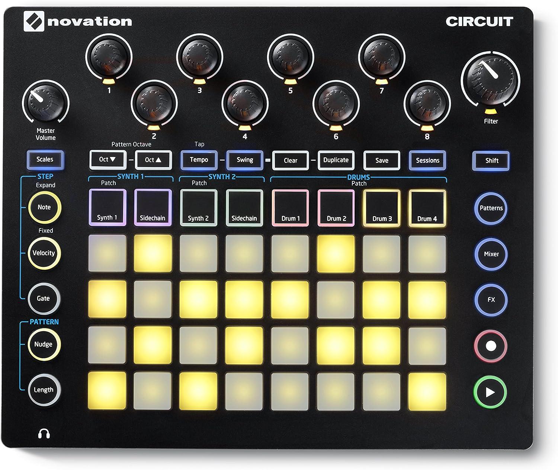 Novation Circuit - Caja de ranuras con sintetizador, batería y ...