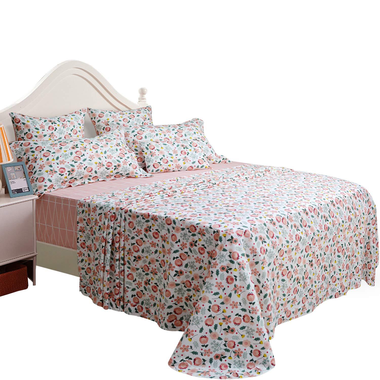 Brandream ロマンチック 女の子用 寝具シーツセット 大人 子供 ベッドシーツセット ツインサイズ クイーン B07JVLYZMC H クイーン