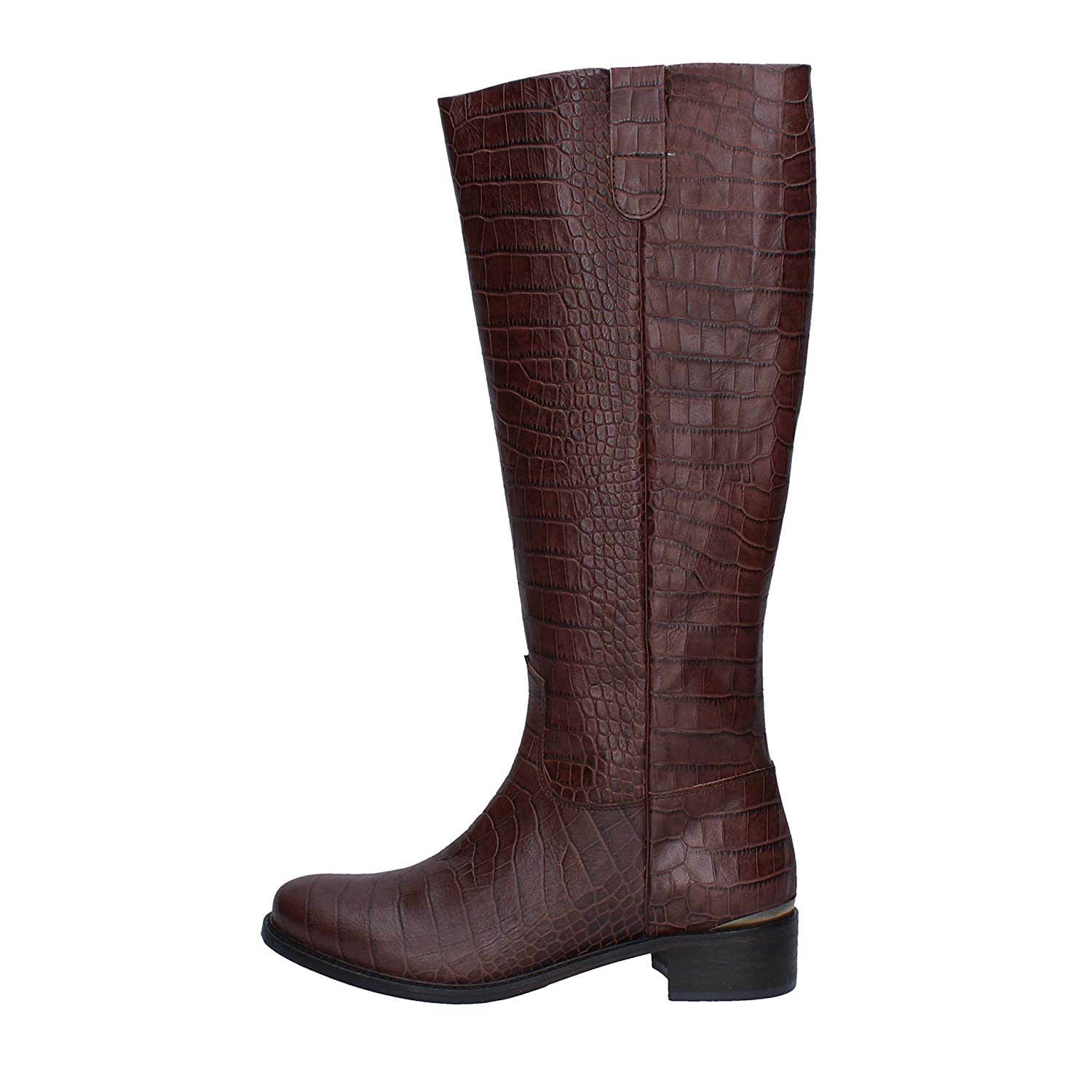 - MICHEL BATIC Boots Womens Leather Brown