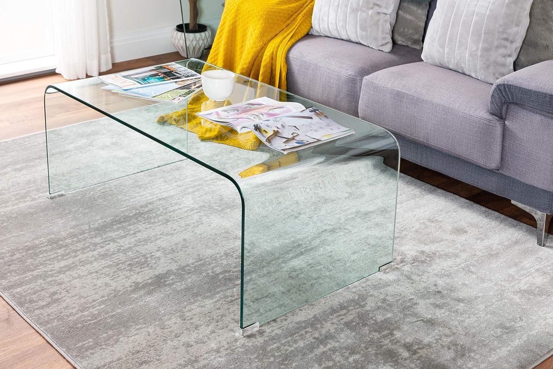 Furniturebox Uk Turin Modern Clear Glass Curved Coffee Table Amazon Co Uk Kitchen Home [ 1001 x 1500 Pixel ]