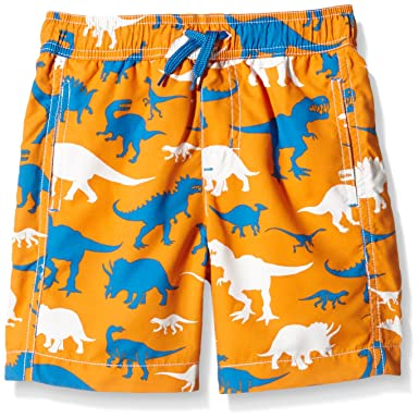 7c405dec1911e Amazon.com: Hatley Little Boys' Wild Dinos Swim Trunks, Orange, 7 ...